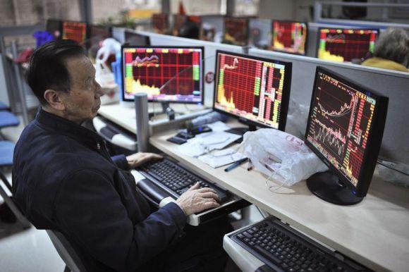 Частный инвестор в брокерской конторе в Китае