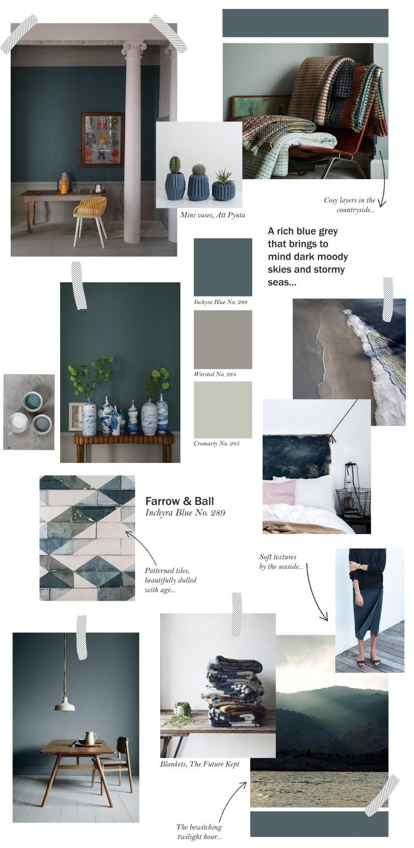 Farrow & Ball collage - Inchyra Blue