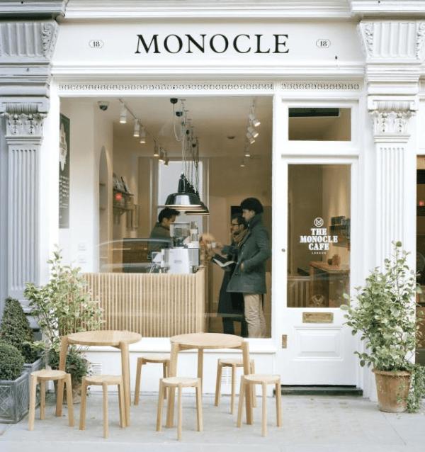 Monocle Cafe image via Stylejuicer