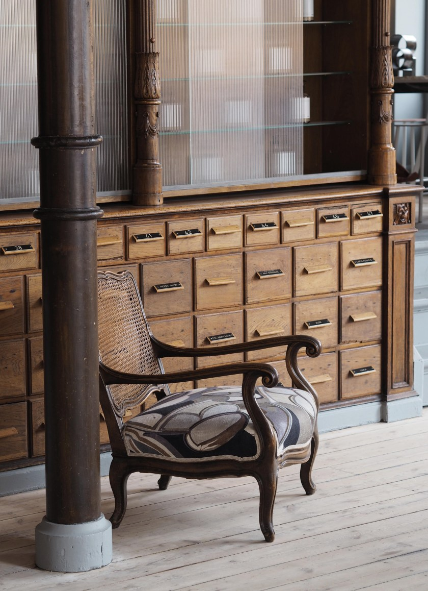 The beautiful Frama store in Copenhagen, housed in the former home of the St. Pauls Pharmacy. Image: cate st hill