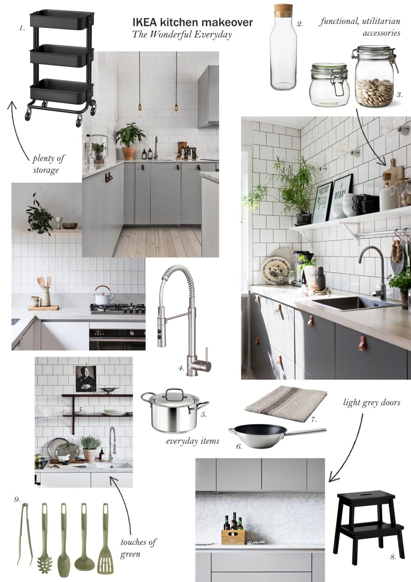 IKEA kitchen makeover - grey kitchen inspiration