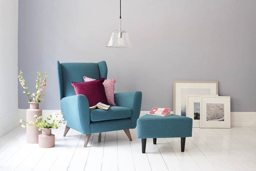 DFS Capsule Collection for small space living - teal armchair