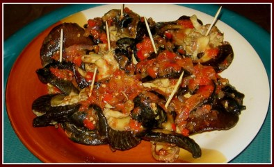 Cooked snails.
