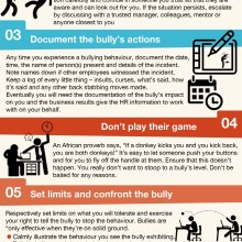How to deal with a bully at work Infographic