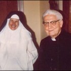 Fr. Ciszek visits with Sr. Marie Louis Bertrand, OP