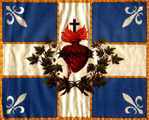 The Sacred Heart Flag of Quebec