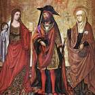 St Lazarus between Martha and Mary, by  Maestro de Perea (source)