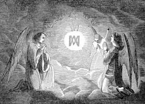 illustration for the Feast of the Holy Name of Mary from Pictorial Lives of the Saints
