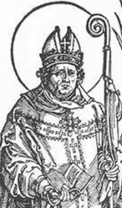detail of Saint Quirinus of Sescia, from 'The Austrian Saints' by Albrecht Durer, 1515-17, woodcut, British Museum, London