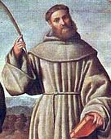 detail of a painting of Saint Berard of Morocco, by Bernardino Licinio, 1524; swiped off Wikimedia Commons