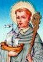 detail of a 19th century Dutch holy card of Blessed Idesbald of Dunes, artist unknown