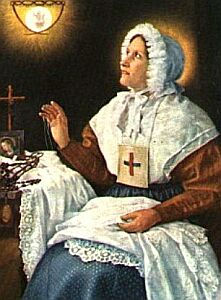 Blessed Anne Marie Taigi holy card, artist unknown