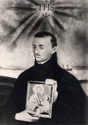 illustration of Blessed Ignatius de Azevedo, date and artist unknown; swiped off Santi e Beati