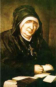 detail of a portrait of Blessed Marie, artist unknown; swiped from the web site of the Sisters of the Presentation of Mary