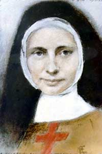 water colour portrait of Blessed Mary Frances Schervier; from the Franciscan Sisters, artist unknown