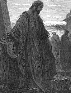 detail of an engraving of Daniel by Gustav Dore; click for main article on Daniel the Prophet