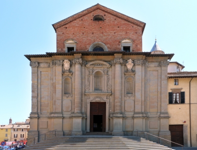 facade of the Cathedral of Saints Florido and Amanzio, Diocese of Città di Castello, Italy; photographed on 11 July 2015 by Sailko; swiped from Wikimedia Commons