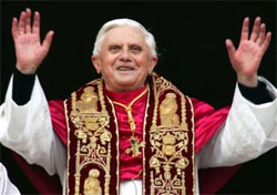 Pope Benedict XVI on the day of his Ascension to the Papacy