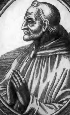 detail of an illustration of Pope John XXI, artist unknown; from Catholic Churchmen in Science, 1907