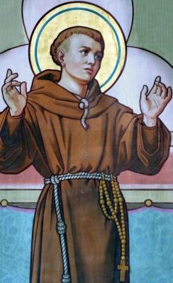 illustration of Saint Antonius van Weert, artist unknown; swiped from Wikimedia Commons