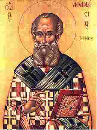 Byzantine icon of Saint Athanasius of Alexandria, author unknown