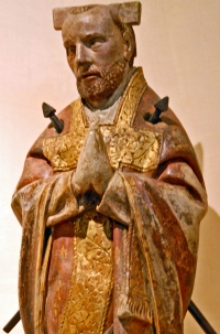 statue of Saint Bénigne, Martyr; sculptor unknown; photograph taken by Jochen Jahnke; swiped off Wikipedia