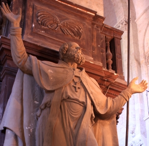 statue of Saint Exuperius, Basilica of Saint-Sernin; artist unknown; photo taken on 25 September 2011 by PierreSelim; swiped off Wikimedia Commons