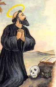 Saint Florentius the Venerable Italian holy card