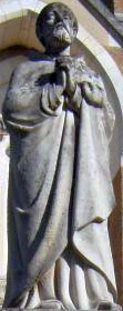 statue of Saint Friard, location, date and artist unknown; swiped from Santi e Beati