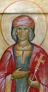 icon of Saint Geraud d'Aurillac; date unknown, artist unknown; swiped off the Wikimedia Commons; click for source image
