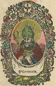 18th century French holy card, artist unknown, date unknown; thanks essepi