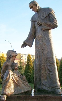 statue of Saint Zygmunt Gorazdowski, Sanok, Poland; artist unknown; photographed in 2010 by Silar; swiped off Wikipedia