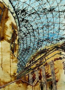©2014 - Cathy Read - Roof of the British Museum - Watercolour and Acrylic - 75 x 55 cm - £810 unframed