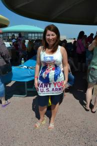 Uncle Sam Dress on Military Romance Author Cat Johnson