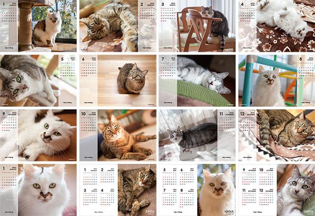 2015年版CatLife卓上カレンダー全16枚サムネイル