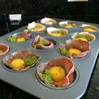 EASY Pesto, Turkey, Roast Beef & Smoked Salmon Egg Muffins