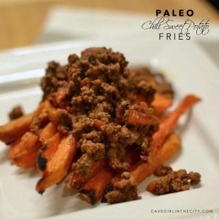 Chili Covered Sweet Potato Fries