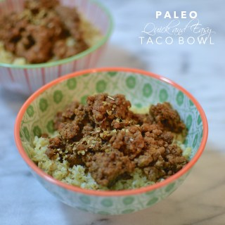 Quick and Easy Taco Bowl