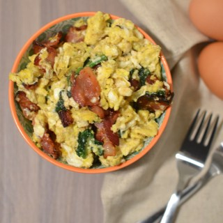 Bacon and Spinach Egg Scramble