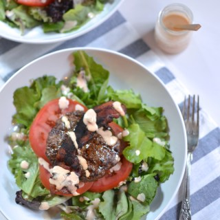 Grilled Burger Salad With Not-So-Secret Sauce