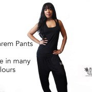 Plain Harem Pants Front 1