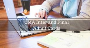 ICWAI Admit Card Dec 2016 CMA Inter Final