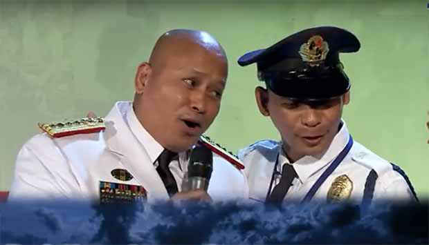 Watch PNP Chief General de la Rosa gamely sings 'Bawal na Gamot'