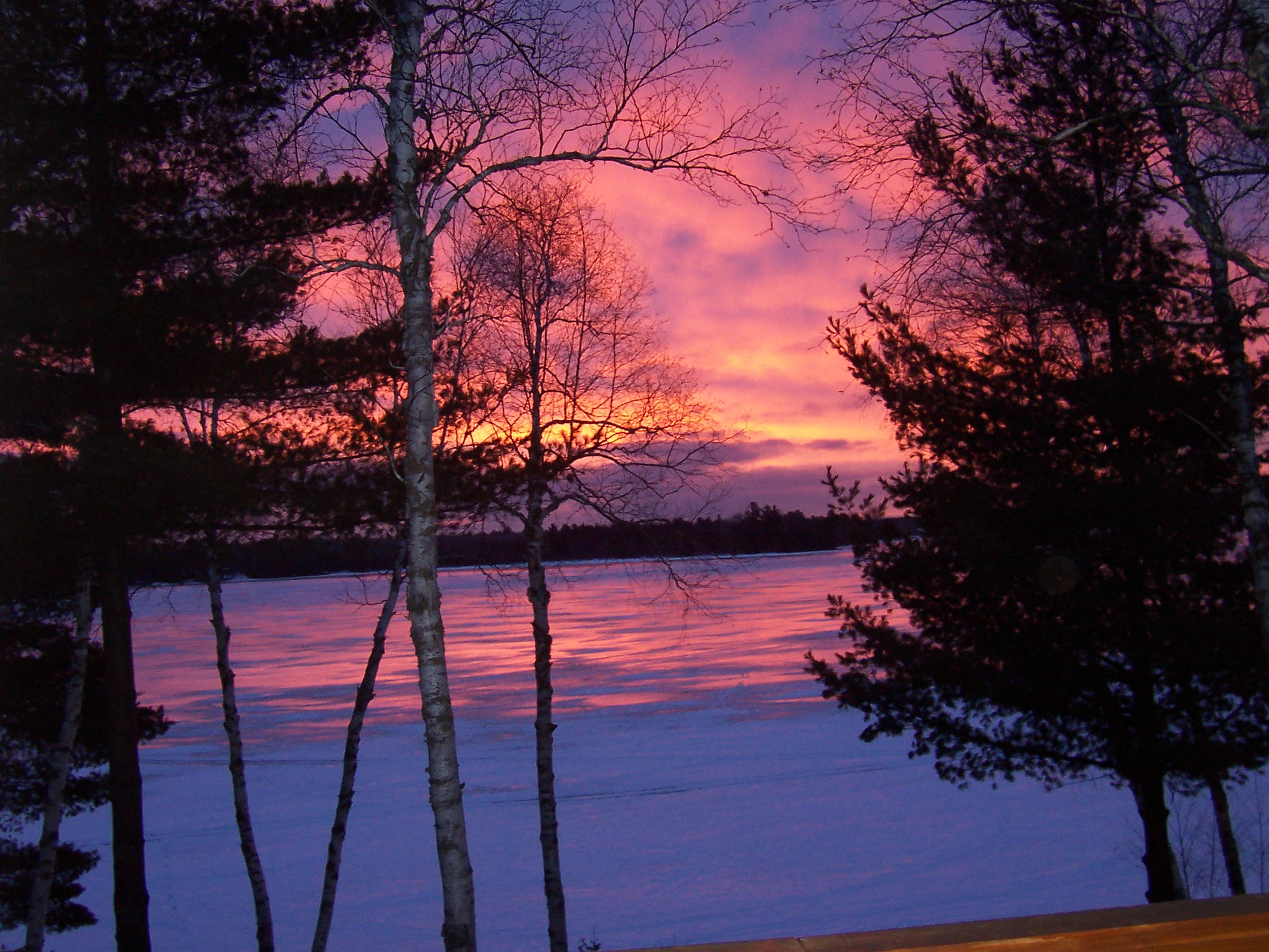 Winter Lake Sunset