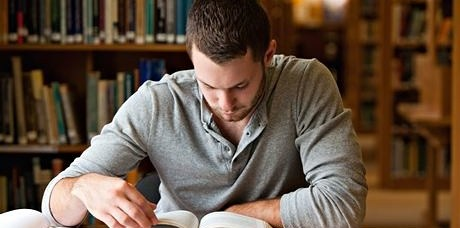 Male-student-researching