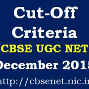 CBSE_UGC_NET_December_2015_Cut_Off_Criteria