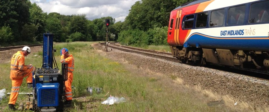 Terrier rig Network Rail