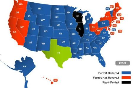 concealed carry permit reciprocity maps usa carry | party