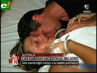 Milagro asombra al mundo: Bebé revive con abrazo de su madre