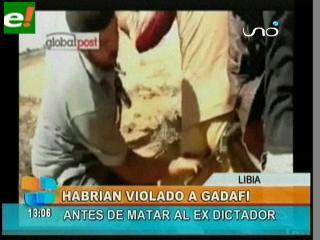 Video revela que violaron a Gadafi antes de ejecutarlo